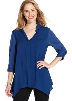Style&co. V-Neck Point-Collar Shirt
