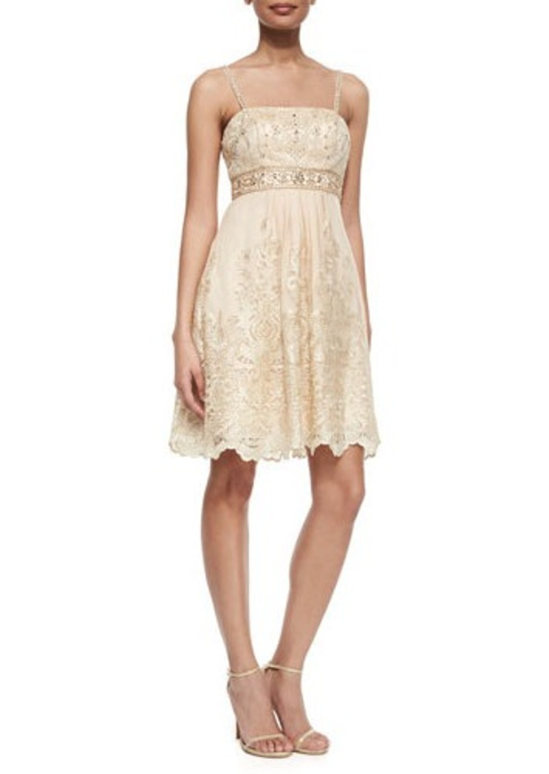 Sue wong sue wong beaded bodice embroidered dress beaded for Sue wong robes de mariage