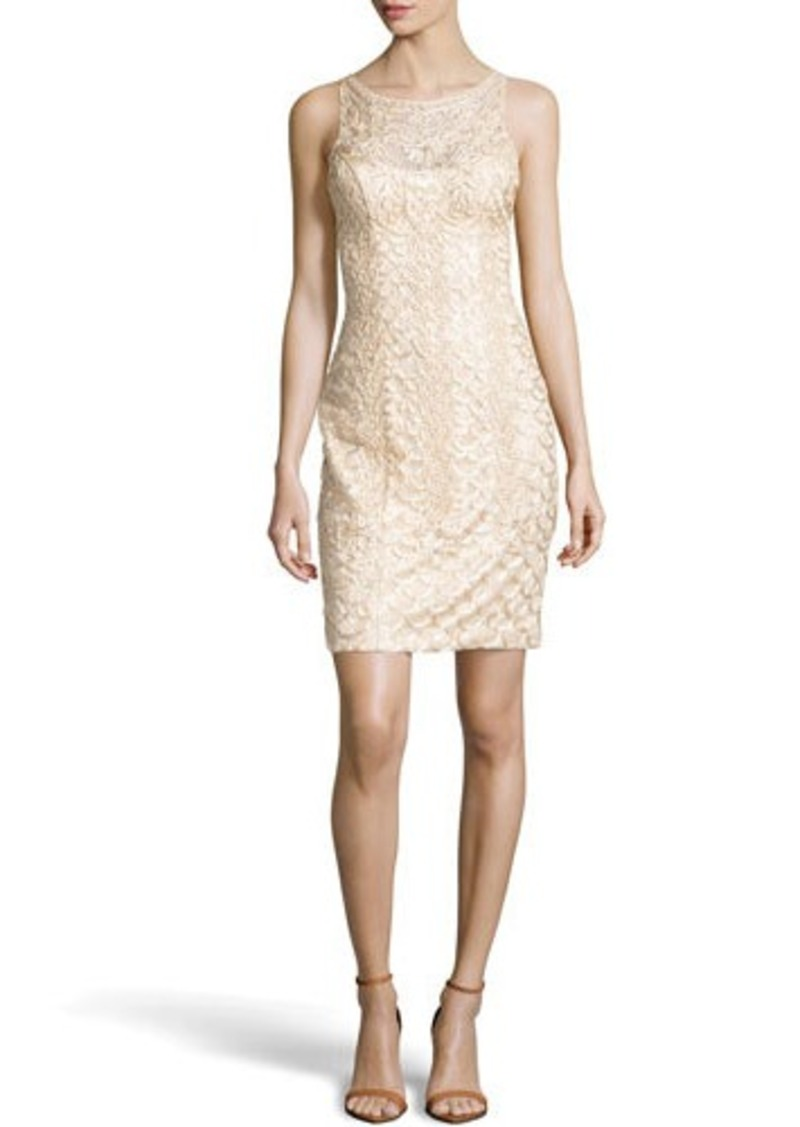 Sue wong sue wong beaded scoop back cocktail dress for Sue wong robes de mariage