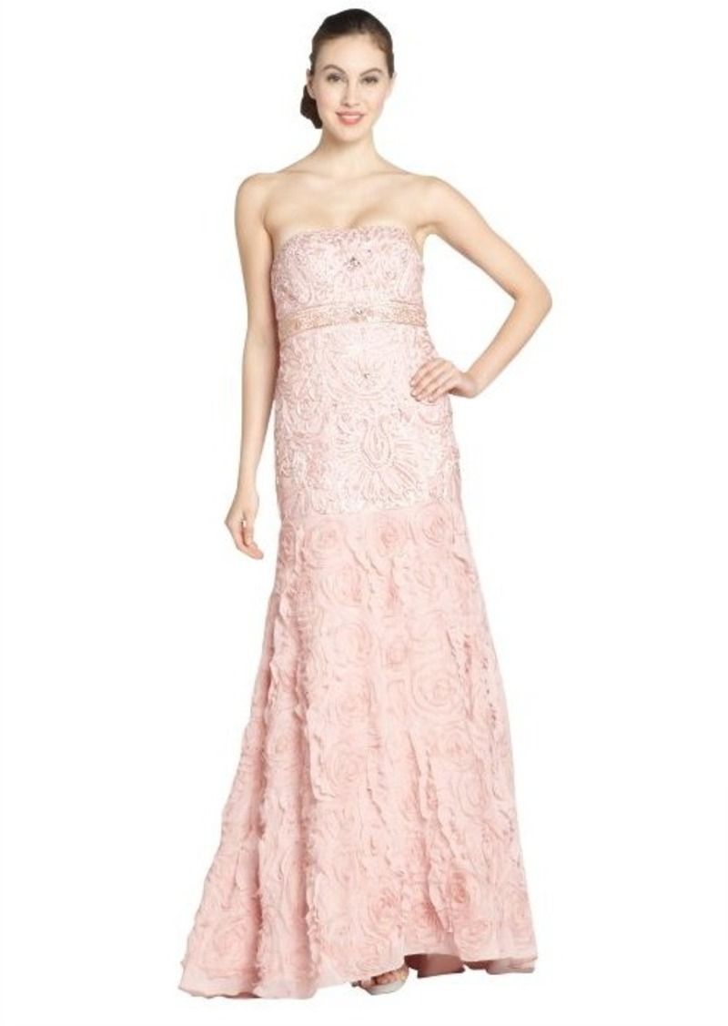 Sue wong sue wong dusty rose chiffon embroidered detail for Sue wong robes de mariage