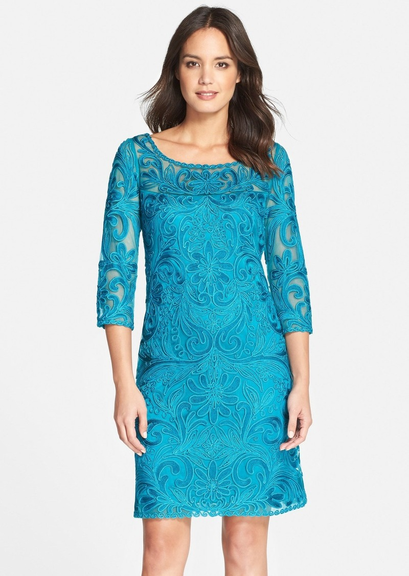 Sue wong sue wong embroidered illusion yoke mesh a line for Sue wong robes de mariage