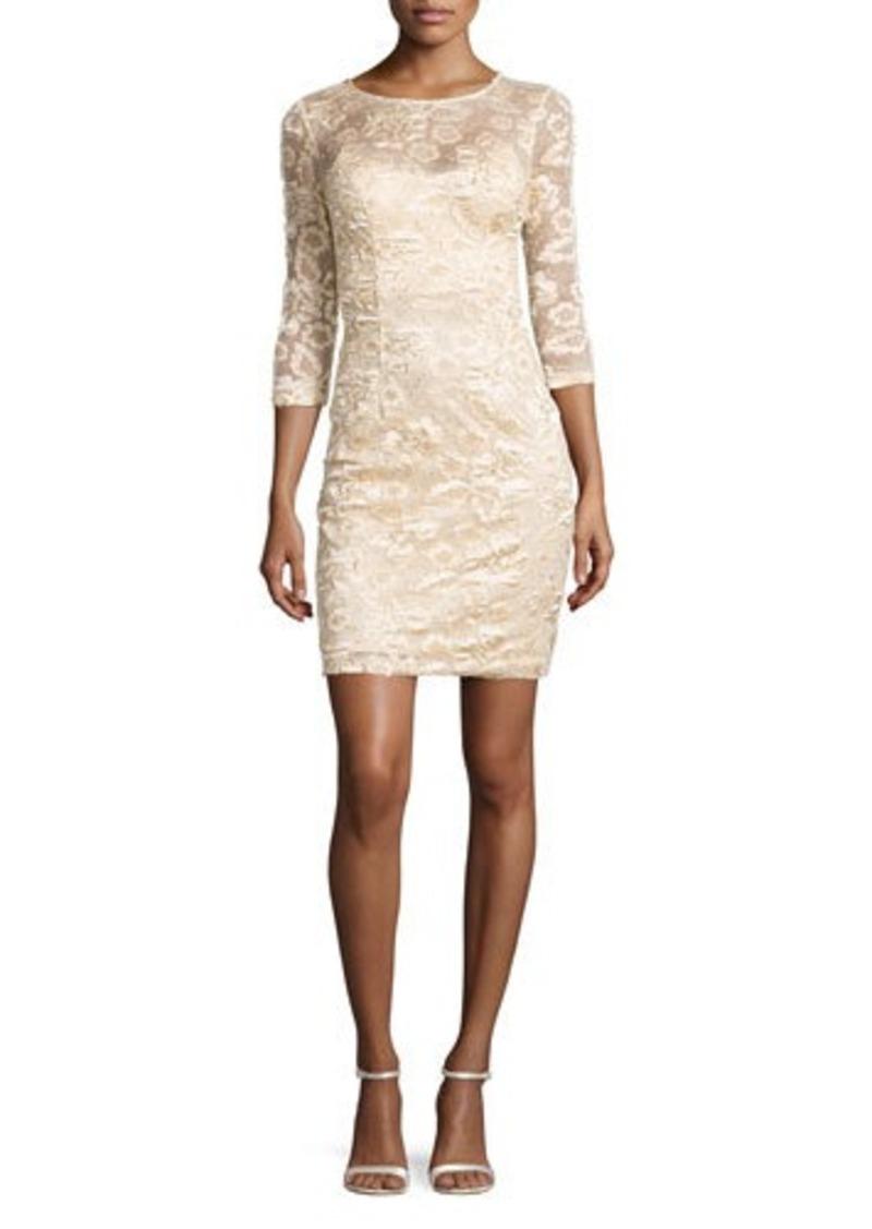 Sue wong sue wong illusion floral applique dress dresses for Sue wong robes de mariage