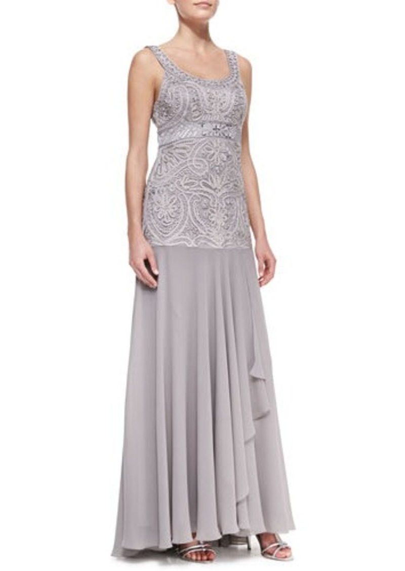 Sue wong sue wong sleeveless beaded full skirt gown for Sue wong robes de mariage