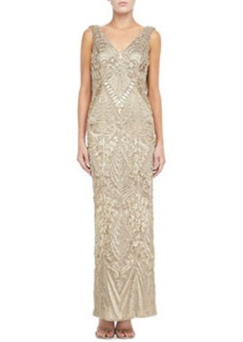 Sue wong sue wong sleeveless draped cowl back gown for Sue wong robes de mariage