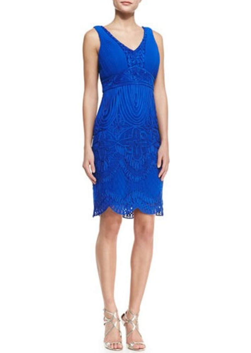 Sue wong sue wong sleeveless embroidered scalloped for Sue wong robes de mariage