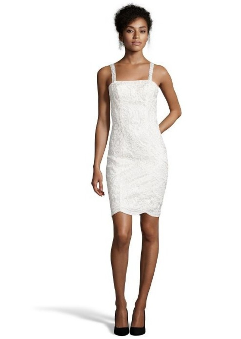 Sue wong sue wong white embellished stretch lace for Sue wong robes de mariage