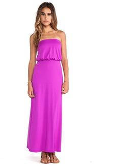 Susana Monaco Blouson Strapless Dress in Fuchsia