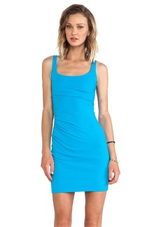 Susana Monaco Cross Gather Tank Dress in Blue