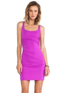 Susana Monaco Cross Gather Tank Dress in Fuchsia