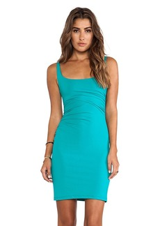 Susana Monaco Cross Gather Tank Dress in Teal