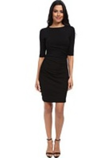 Susana Monaco Cross Gathered Sleeve Dress