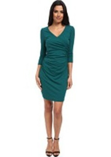 Susana Monaco Cross Wrap Gather Dress