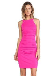Susana Monaco Double Racer Back Dress in Fuchsia