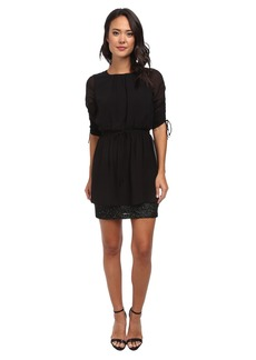 Susana Monaco Drawstring Sleeve Dress