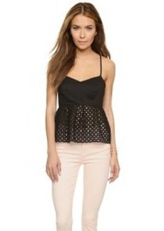 Susana Monaco Eyelet Embroidered Top