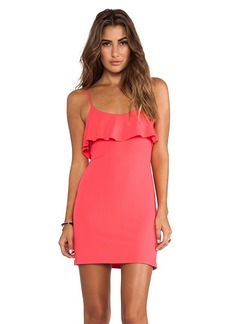 Susana Monaco Gwen Ruffle Top Dress in Coral