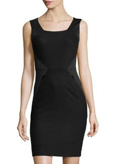 Susana Monaco Jersey & Felt Sleeveless Dress, Black