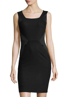 Susana Monaco Jersey & Felt Sleeveless Dress