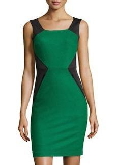 Susana Monaco Jersey & Felt Sleeveless Dress, Black/Serpentine