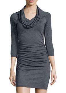 Susana Monaco Jersey Cowl-Neck Dress, Onyx