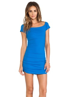 Susana Monaco Jona Off The Shoulder Ruched Dress