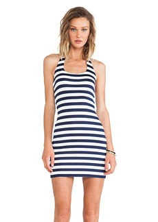 Susana Monaco Kelly Striped Halter Dress in Navy