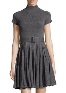 Susana Monaco Knit Fit & Flare Dress, Sidewalk (Gray)