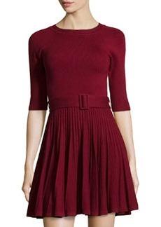 Susana Monaco Knit Fit & Flare Sweaterdress, Cranberry