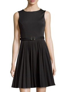 Susana Monaco Knit Sleeveless Pleated Dress