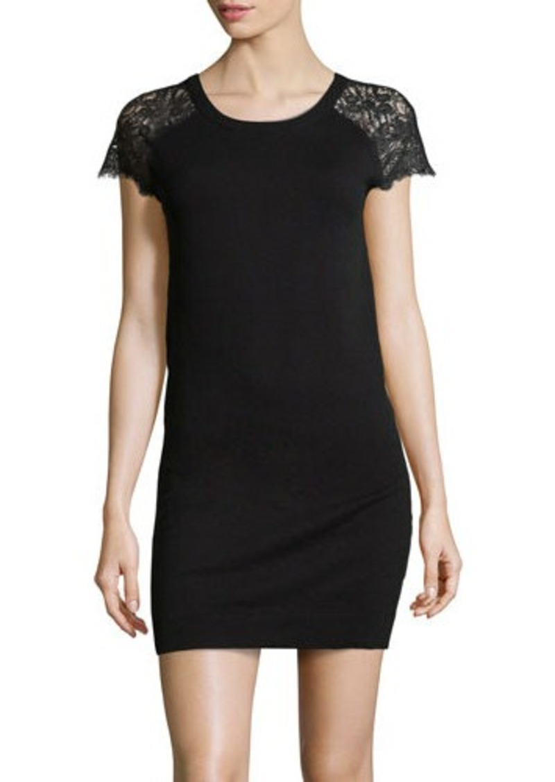 Susana Monaco Lace-Inset Knit Dress