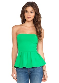 Susana Monaco Leila Ruffle Top in Green