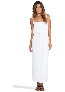 "Susana Monaco Light Supplex Blouson Tank 40"" Dress in White"