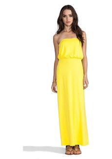 "Susana Monaco Light Supplex Blouson Tube 40"" Dress in Yellow"