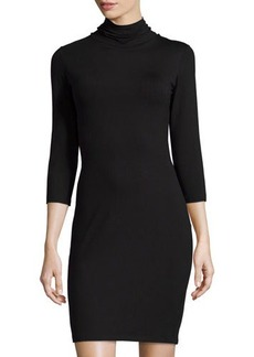Susana Monaco Long-Sleeve Turtleneck Dress