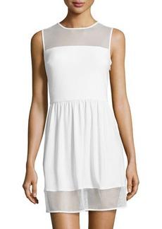 Susana Monaco Mesh-Trim Sleeveless Dress