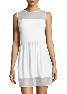 Susana Monaco Mesh-Trim Sleeveless Dress, Sugar