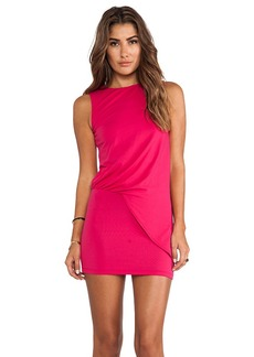 Susana Monaco Mika Gathered Side Tank Dress in Fuchsia