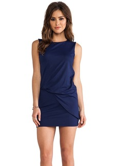 Susana Monaco Mika Gathered Side Tank Dress in Navy