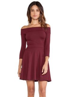 Susana Monaco Off Shoulder Circle Skirt Dress