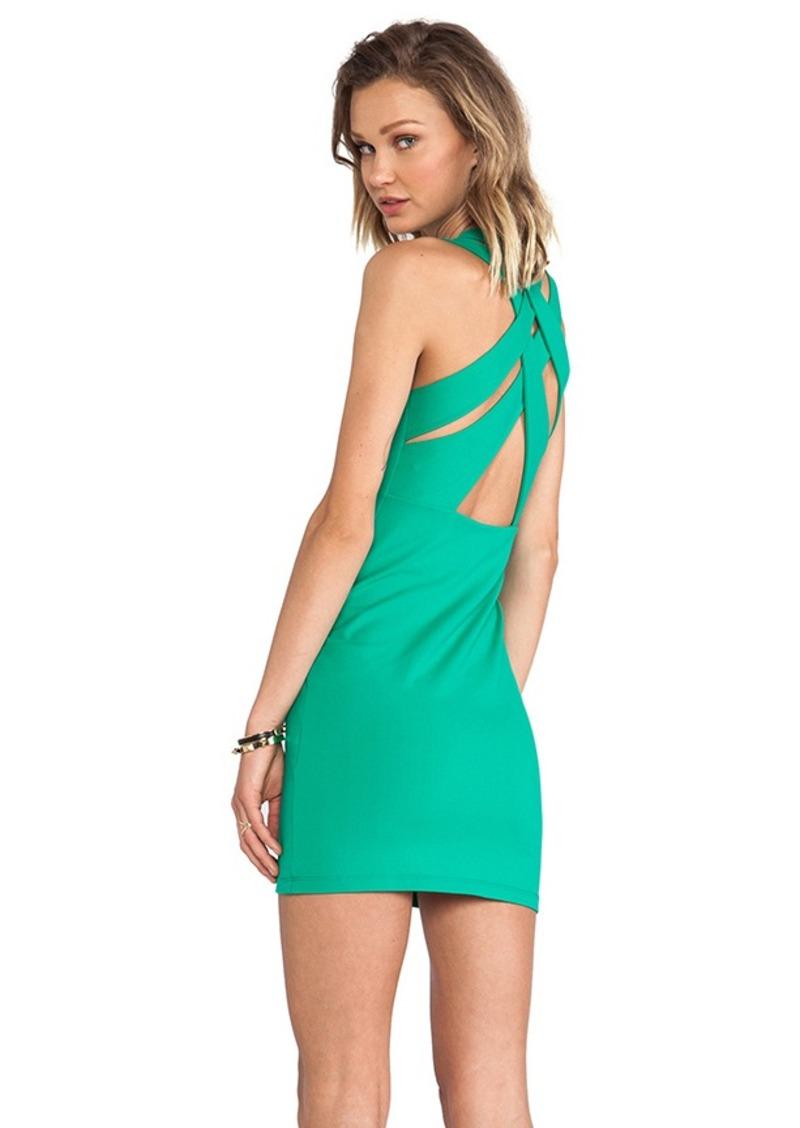 Susana Monaco Olivia Weave Cross Back Dress in Green