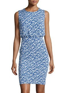 Susana Monaco Printed Sleeveless Blouson Dress, Sapphire