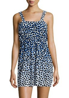 Susana Monaco Printed Sleeveless Square-Back Dress, Punta Cana