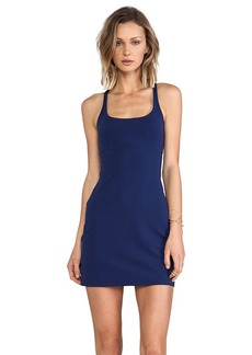 Susana Monaco Racer Back Mini Dress in Navy