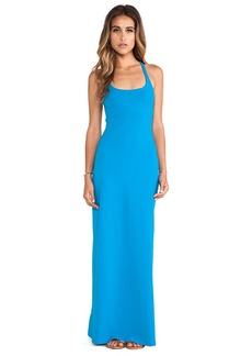 Susana Monaco Racer Maxi Dress in Blue