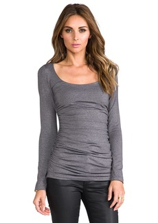 Susana Monaco Rouched Scoop Top