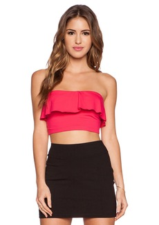 Susana Monaco Ruffle Tube Crop Top
