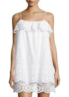 Susana Monaco Ruffled Eyelet Sleeveless Dress