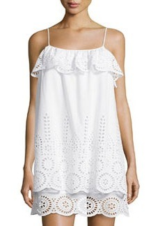Susana Monaco Ruffled Eyelet Sleeveless Dress, Sugar