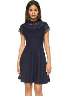Susana Monaco Sia Embroidered Wool Dress