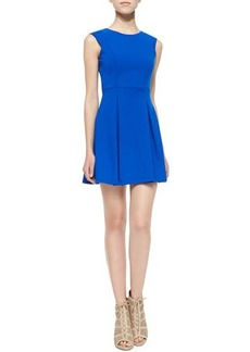 Susana Monaco Sleeveless Pleated Jersey Dress